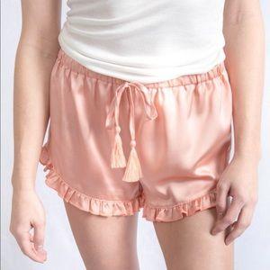 Promesa Satin Ruffled Shorts